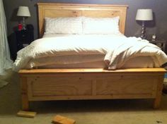 Farmhouse King Bed | Do It Yourself Home Projects from Ana White