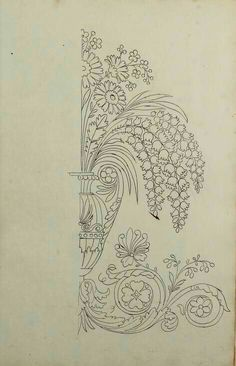 Embroidery Patterns - Directoire designs for textiles Embroidery Stitches, Embroidery Patterns, Hand Embroidery, Stencil Patterns, Pattern Art, Coloring Books, Coloring Pages, Motif Art Deco, Islamic Art