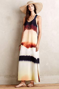 Silk Horizon Maxi Dress - anthropologie.com