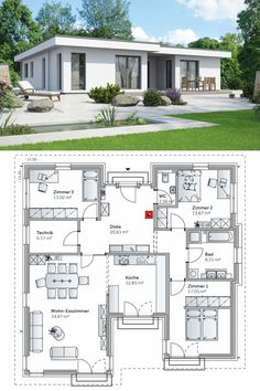 A residential house with pronounced influence on welfare of the family. Ascertain the features of a charming bungalow house design with excellent health benefits. Bungalow House Design, Sims House Design, Bungalow House Plans, House Front Design, Design Your Dream House, Small House Design, Pallet House Plans, My House Plans, Philippines House Design