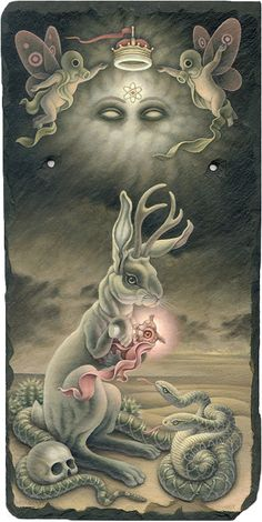 Soft colored, pop-surrealistic paintings by Heather Watts - Bleaq - All About Art Tattoo Studio Rangiora. 03 310 6669 or 022 125 7761 - Tattoo Studio, Arte Obscura, Rabbit Art, Bunny Rabbit, Lowbrow Art, Wow Art, Visionary Art, Surreal Art, Dark Art
