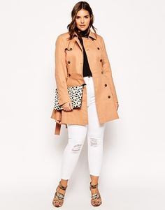 Enlarge ASOS CURVE Exclusive Classic Trench