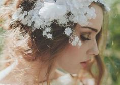 Beautiful Bride La Boheme Handmade Wedding Adornments - - The Summertime Love collection by Bride La Boheme features floral sashes & headpieces perfect for the bohemian bride! Photos by Laura Marii Photography. Floral Headpiece, Headpiece Wedding, Wedding Veils, Bridal Headpieces, Wedding Dresses, Hair Wedding, Make Up Braut, Bohemian Bride, Bohemian Weddings