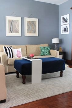 All we can say about this contemporary living room makeover is wow! See how Jessica of @decoradventures completely transforms her home's living area with a coat of Gotham Gray. You won't believe how much of an impact this cool relaxing paint shade makes in this cozy space!