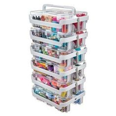 Deflecto Stackable Caddy Organizer - Clear, White Target item for Organizer Craft Room Storage, Craft Organization, Art Supplies Storage, Craft Storage Ideas For Small Spaces, Bead Storage, Scrapbook Room Organization, Medicine Organization, Craft Desk, Closet Organization
