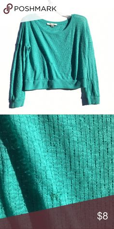 Teal Blue Sweater Thin and comfortable teal sweater. Has small pulls, biggest shown in second image. Price reflects these. Sweaters Crew & Scoop Necks