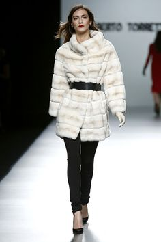 Roberto Torretta, Madrid Mercedes-Benz Fashion Week Fall 2013  ||  Oh, to own that fur... (sigh)
