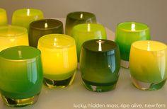 glassybaby | spring greens