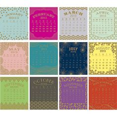 I cannot believe it's nearly the end of the year – 2014 has flown by so fast! Anyways, it's that time to start thinking about getting a new calendar for my desk at work. For 2014…