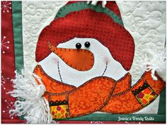 Joanie's Trendy Quilts : Mini Snowman Quilt and Blog Hop Party with Giveaway