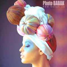 Love Hair, Big Hair, Creative Hairstyles, Cool Hairstyles, Wacky Hair, Avant Garde Hair, Latest Hair Trends, Editorial Hair, Hair Locks