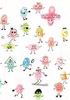 Afbeeldingsresultaat voor thumbprint pictures for kids Art For Kids, Crafts For Kids, Arts And Crafts, Fingerprint Crafts, Thumb Prints, Hand Prints, Finger Art, Footprint Art, Handprint Art