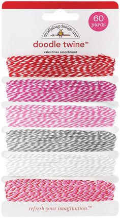 A lovely baker's twine assortment in the perfect Valentine's Day colors. $5.94