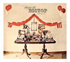 Vintage Circus Printable Birthday Party Dessert Table Decor