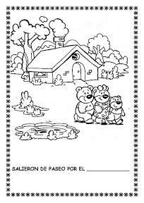 "COSILLAS DE INFANTIL: Cuento: ""Ricitos de Oro y los tres osos"" Black N White Images, Black And White, Goldilocks And The Three Bears, Book Activities, 3 D, Preschool, Album, Education, Comics"