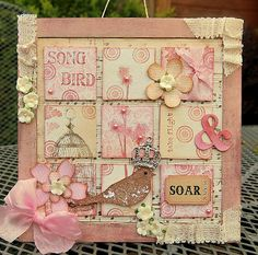 Kath's Blog......diary of the everyday life of a crafter: More Vintage Pink and Cream...