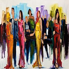 Come and go like Fashion, oil cocktail party painting by Kimberly Kiel | Effusion Art Gallery + Cast Glass Studio, Invermere BC Sky Painting, Painting For Kids, Dance Paintings, Landscape Paintings, Modern Art, Contemporary Art, Wedding Painting, Cast Glass, Mountain Paintings
