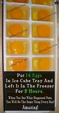 The taste of frozen eggs is similar to the taste when they are thawed. So, grab more eggs when they are on sale or use them up when you have a lot about to expire too. All you have to do is take an ice cube tray, crack the eggs… Natural Medicine, Herbal Medicine, Medicine Book, Ayurveda, Aquaponics, Ice Cube Trays, Ice Cubes, Natural Healing, Holistic Healing
