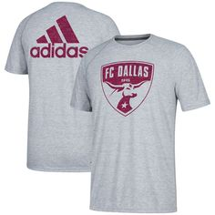 FC Dallas adidas Fabrication Ultimate Performance T-Shirt- Gray