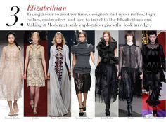 London Fall 2014 Trend Report: Elizabethian | Edited by Roopal Patel and Sarah Slutsky