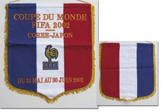 FIFA World Cup Japan Corea 2002 Official Football Match Pennant France 48x43 cm  | eBay