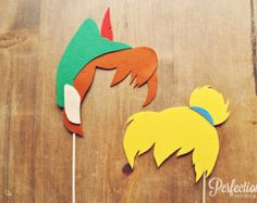 Peter Pan and Tinkerbell Photo Props // Peter Pan themed party props // Wedding…