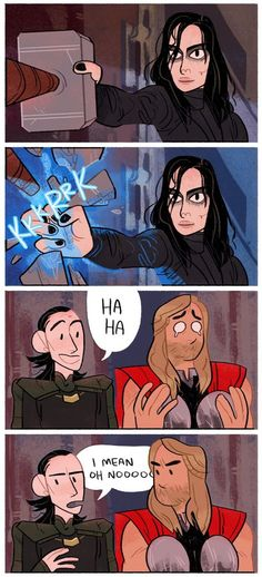Nice backpedaling there, Loki!