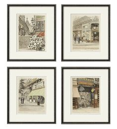 French Art Print Poster Paris Wall Victorian Antique Prints Bedroom