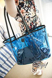 Package mail transparent package bag Candy-colored Beach jelly bag  newversion of Crystal bag transparent bag handbag