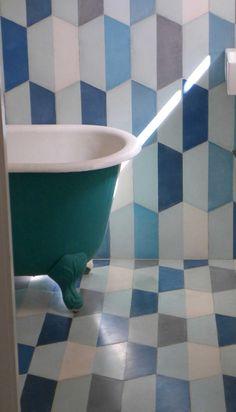 popham design :: cement tiles :: handmade in morocco Beautiful Houses Interior, Beautiful Homes, Luxury Interior, Interior Design, Tiled Hallway, Encaustic Tile, Brick Flooring, Handmade Tiles, Kitchen Tiles
