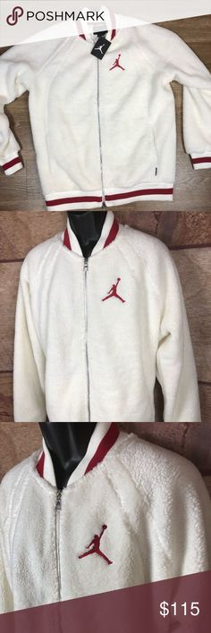 87b05bb049c4 Air Jordan fleece jacket AJ1 Sherpa Large Mens Brand new jacket air Jordan  Sherpa fleece Jordan