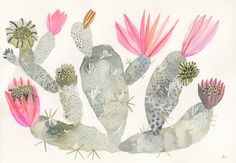 Original Cactus Painting by Michelle Morin