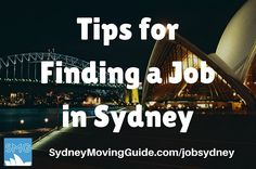 Tips for Finding a Job in Sydney
