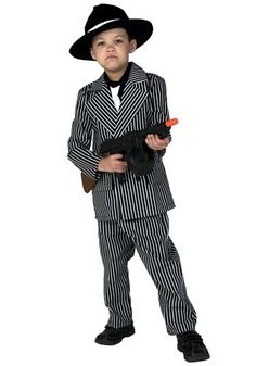 He s ready to run with the big boys! This Kids Deluxe Gangster Costume is  great 33632fafbcdb
