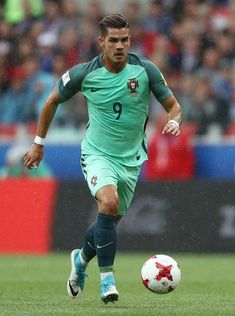 Andre Silva of Portugal in action during the FIFA Confederations Cup Russia 2017 Group A match between Russia and Portugal at Spartak Stadium on June 2017 in Moscow, Russia. best of FIFA confederations cup Soccer Guys, Football Players, Football Soccer, Cristiano Ronaldo, Portugal Football Team, Fifa, Big Boyz, Most Popular Sports, Soccer Skills