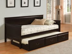 daybed w twin trundle in espresso cm1636ex sale for 567