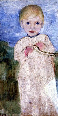 Paula Modersohn-Becker - Mieke Vogeler with pearl necklace