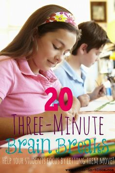 20 Three-Minute Brain Breaks | Minds in Bloom