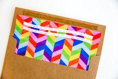 Oh So Beautiful Paper: Lisa's Rainbow Geometric Baby Shower Invitations