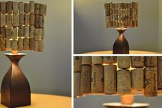 Dress up your lampshade. | 37 Insanely Creative Things To Do With Popped Corks