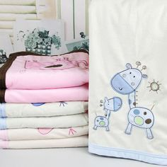 76*102cm Super Soft Polyster Baby Blanket Infant Crib Bedding Cartoon Monkey Rabbit Bear Blanket Newborn Gift For Boys Girls Baby Bedding Mother & Kids