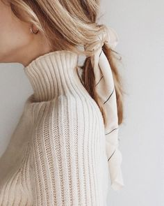 #blonde #scarf #hairstyle #turtleneck