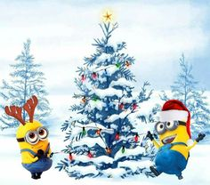 Rockin' around the Christmas Tree...Minion style!!!