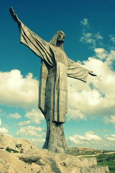 It was like being in Rio, Brazil! Gozo's statue of Jesus Christ │ Come to Malta and discover our culture. There is no better place to learn English: http://lifeinmalta.com/ #malta #gozo #lifeinmalta