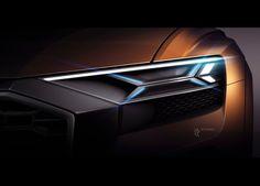 2017 Audi Q8 Sport Concept Head Lamp