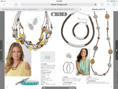 Premier Design, love the yellow bead & silver necklace.