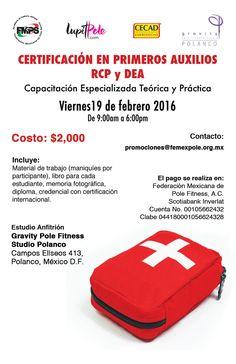 En la #CDMX también tendremos curso de RCP, primeros auxilios y DEA. No te lo pierdas. Registro en promociones@femexpole.org.mx