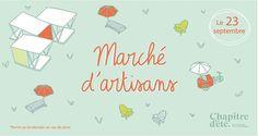 Les Super-Doudous seront au Marché d'artisans au Chapitre d'été !  Samedi 23 septembre 10h-17h  3585 McTavish Montréal Artisans, Map, Facebook, Softies, September, Location Map, Maps