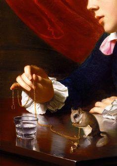 John Singleton Copley - 1738/1815 - American Painter - 'A Boy with a Flying Squirrel' (1765).