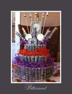 Birthday money cake design